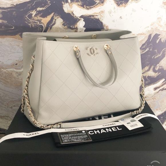 CHANEL Handbags - New Chanel 2019 Bullskin CC Large Shopping Tote